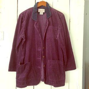 Corduroy vintage blazer purple black elbow pads